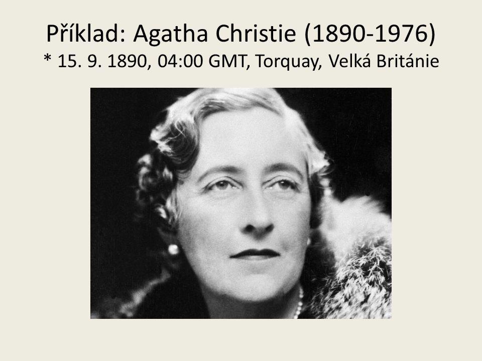 Příklad: Agatha Christie (1890-1976). 15. 9