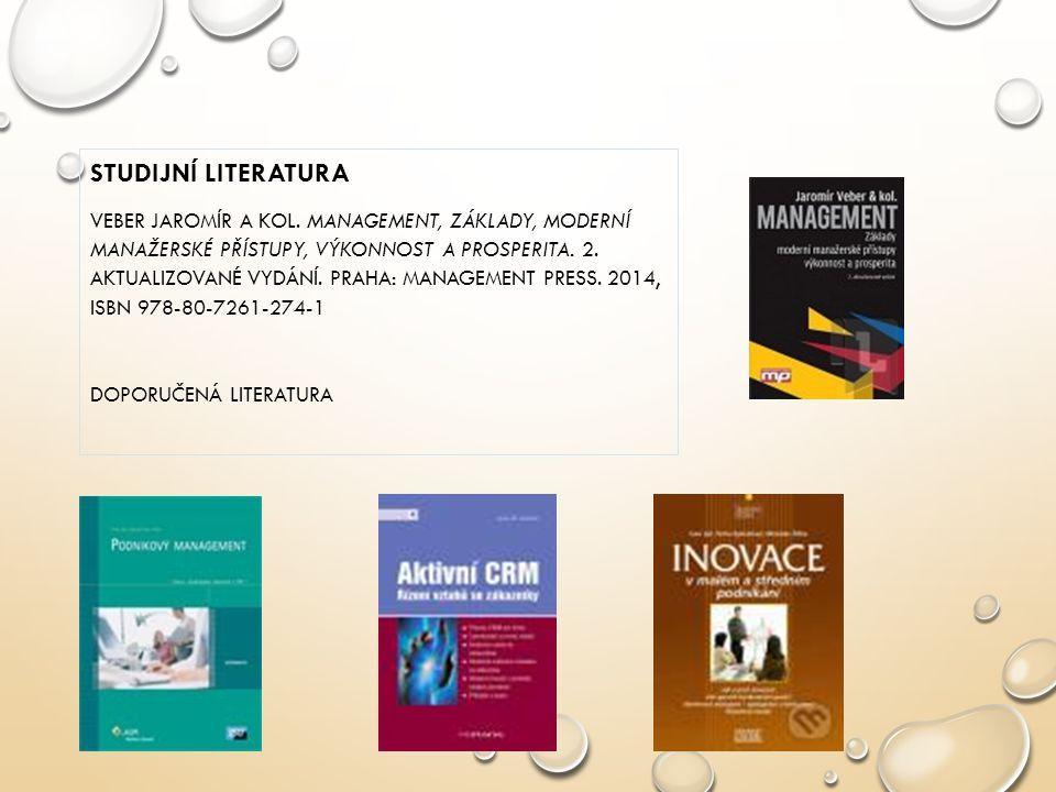 STUDIJNÍ LITERATURA