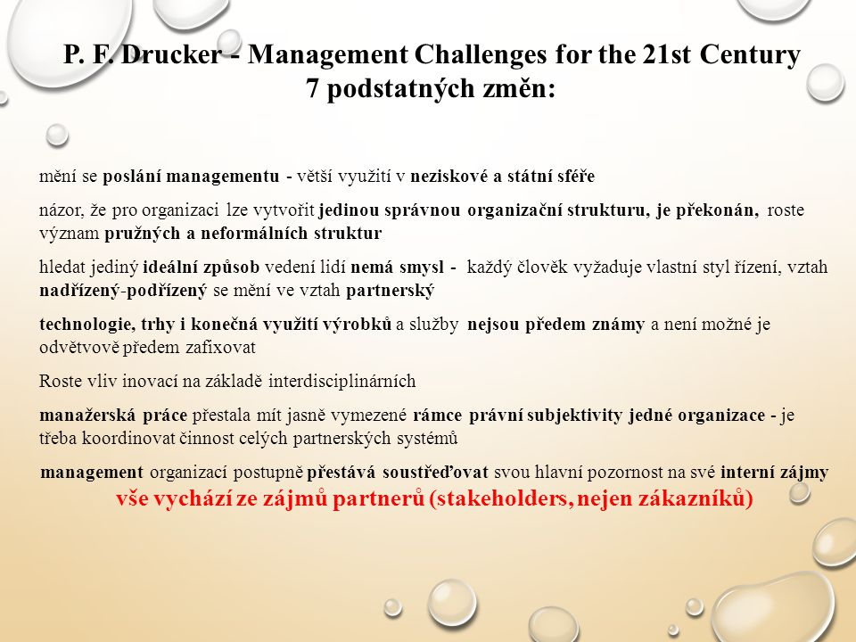 P. F. Drucker - Management Challenges for the 21st Century