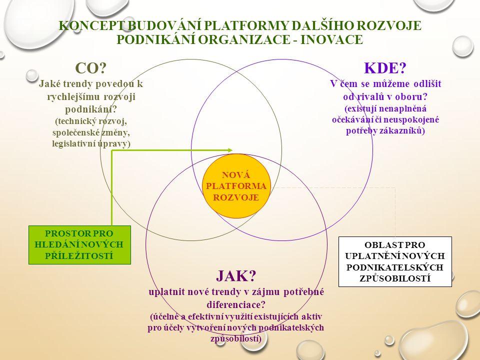 Koncept budování platformy dalšího rozvoje podnikání organizace - INOVACE