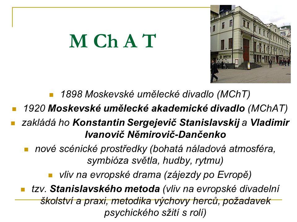 M Ch A T 1898 Moskevské umělecké divadlo (MChT)