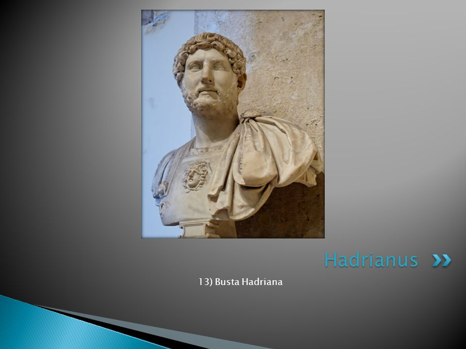 Hadrianus 13) Busta Hadriana