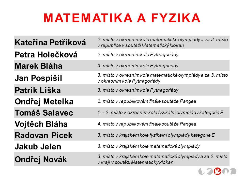 MATEMATIKA A FYZIKA Kateřina Petříková Petra Holečková Marek Bláha