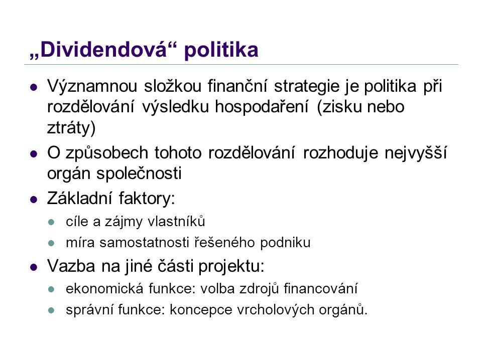 """Dividendová politika"