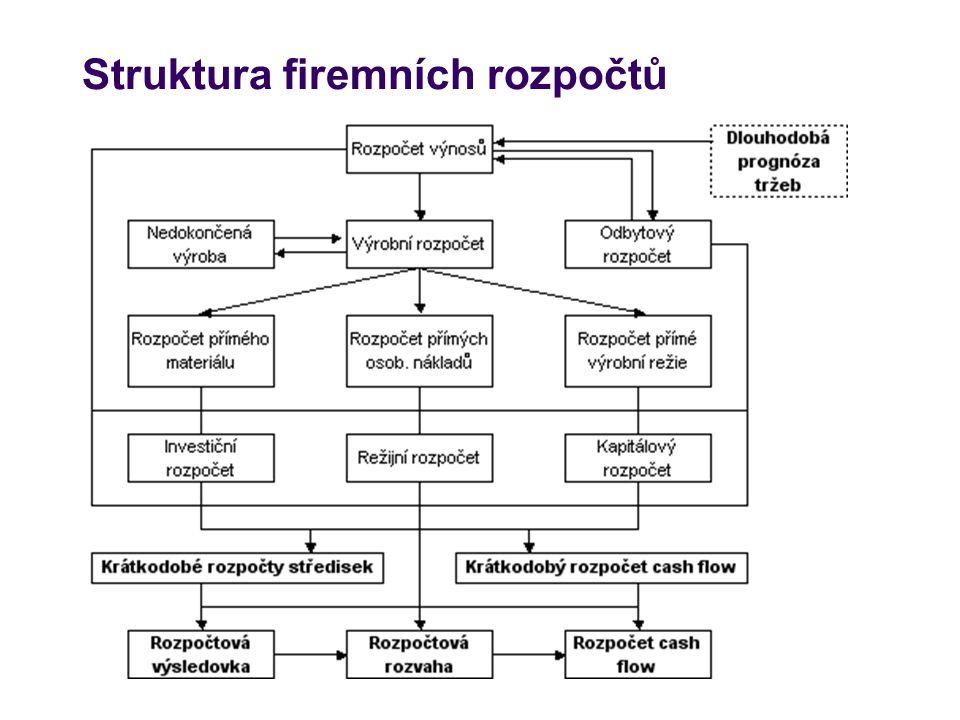 Struktura firemních rozpočtů
