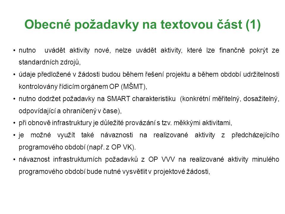 Obecné požadavky na textovou část (1)