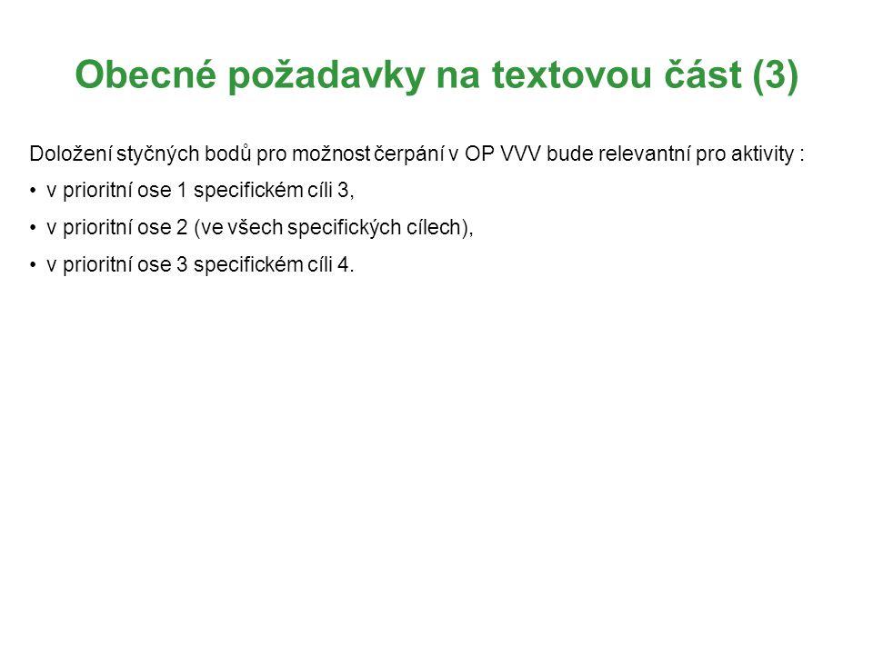 Obecné požadavky na textovou část (3)