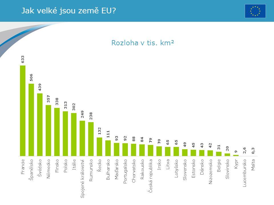 Jak velké jsou země EU Rozloha v tis. km²