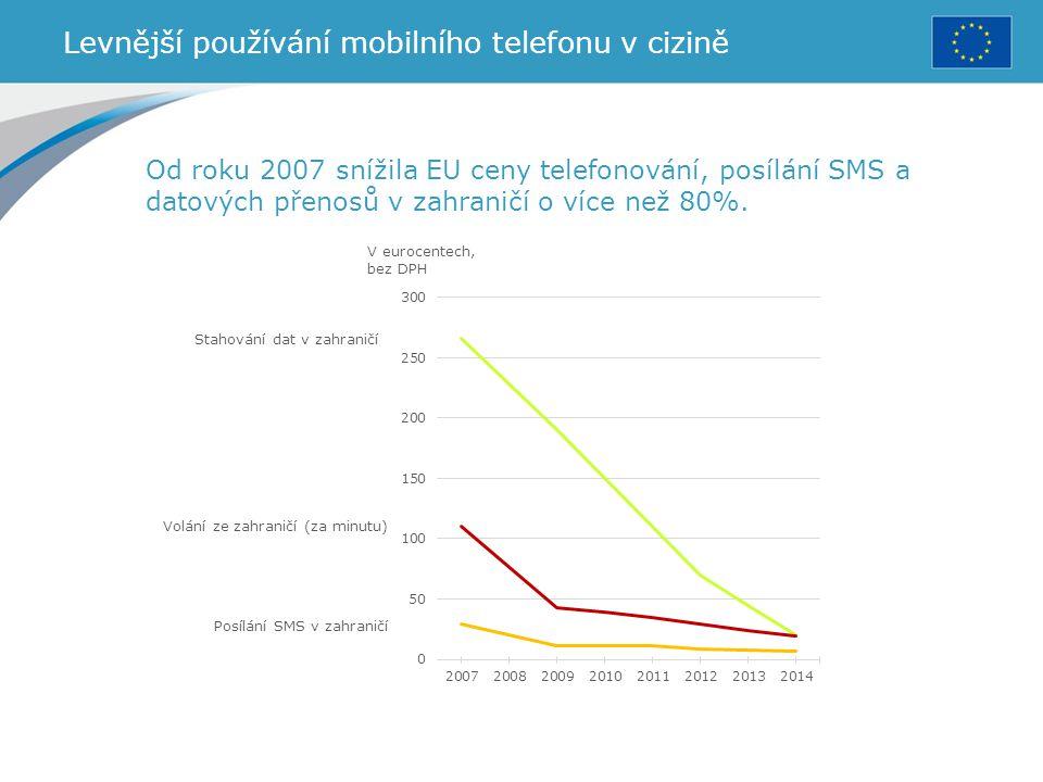 Levnější používání mobilního telefonu v cizině