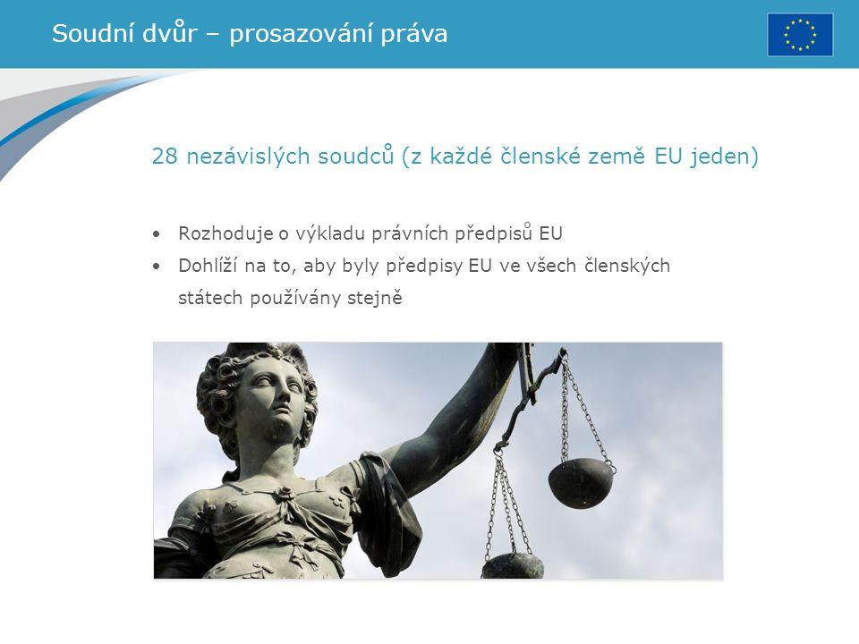 Soudní dvůr – prosazování práva