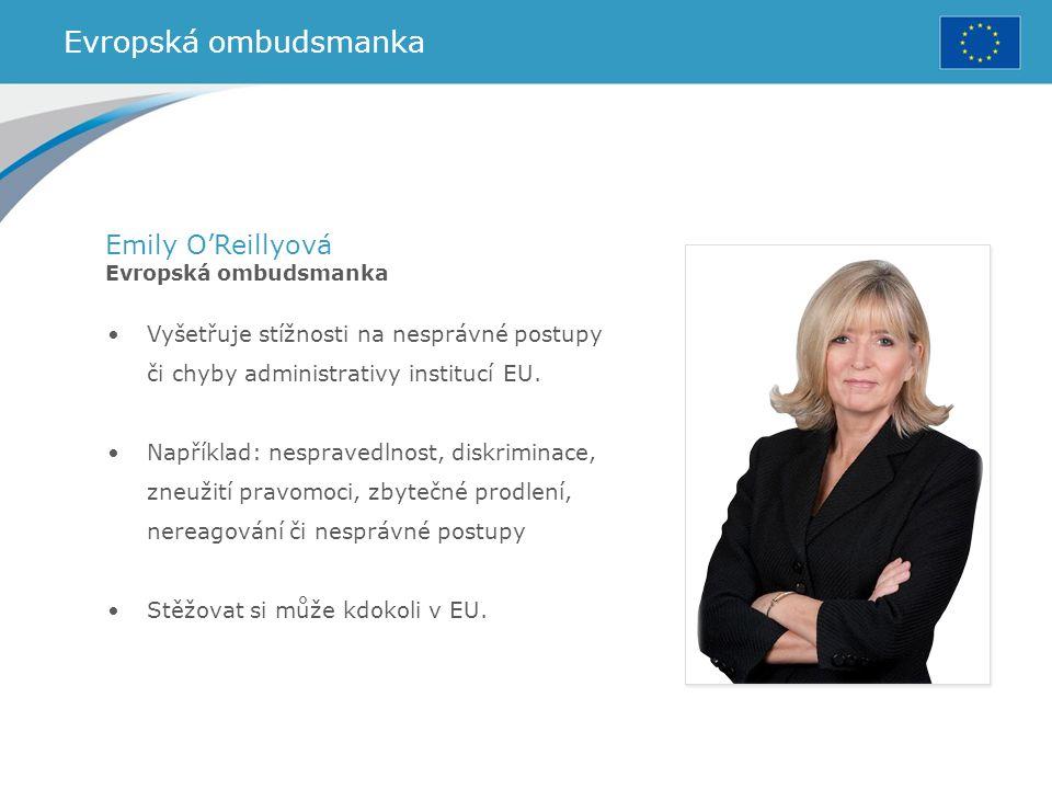 Evropská ombudsmanka Emily O'Reillyová