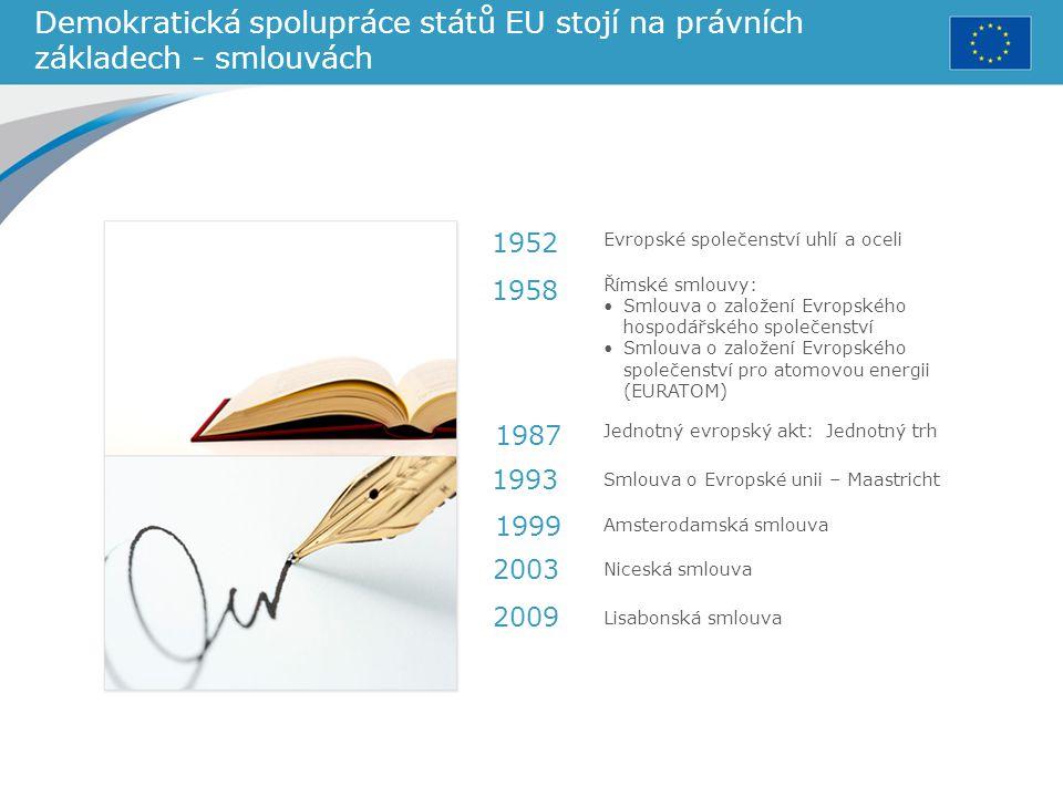 Demokratická spolupráce států EU stojí na právních základech - smlouvách