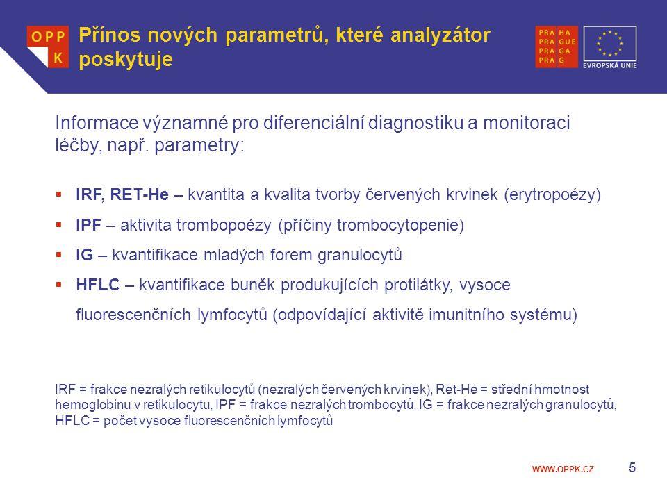 Přínos nových parametrů, které analyzátor poskytuje