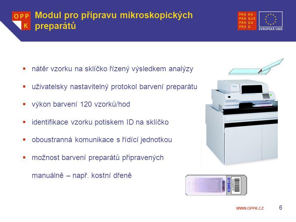Modul pro přípravu mikroskopických preparátů