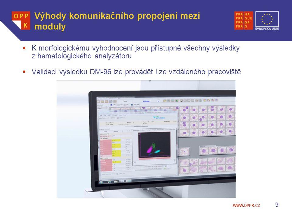Výhody komunikačního propojení mezi moduly