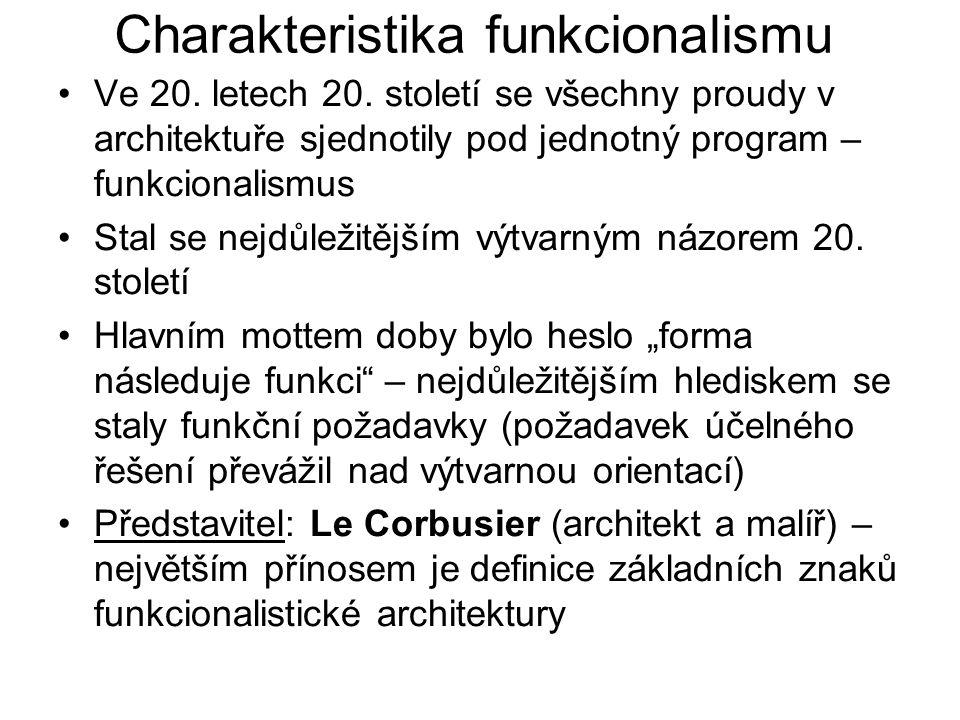 Charakteristika funkcionalismu