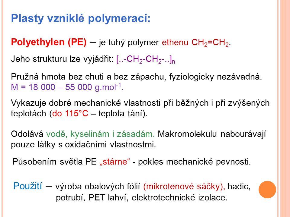 Plasty vzniklé polymerací: