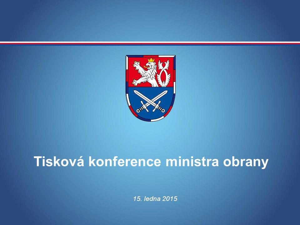 Tisková konference ministra obrany