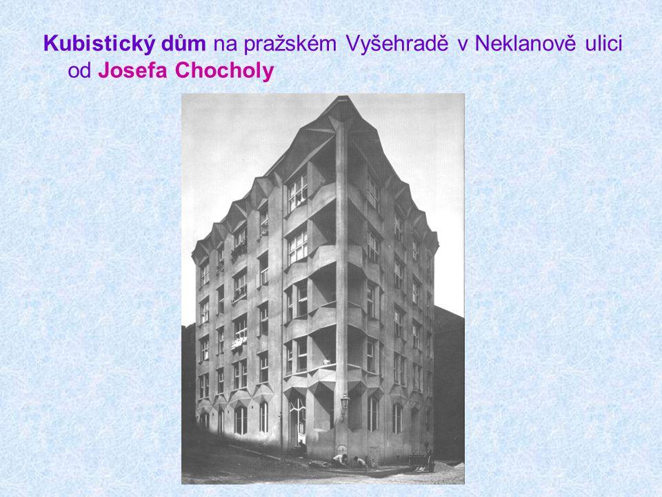 Kubistický dům na pražském Vyšehradě v Neklanově ulici od Josefa Chocholy