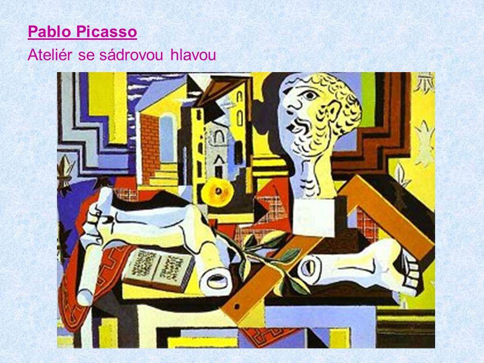 Pablo Picasso Ateliér se sádrovou hlavou