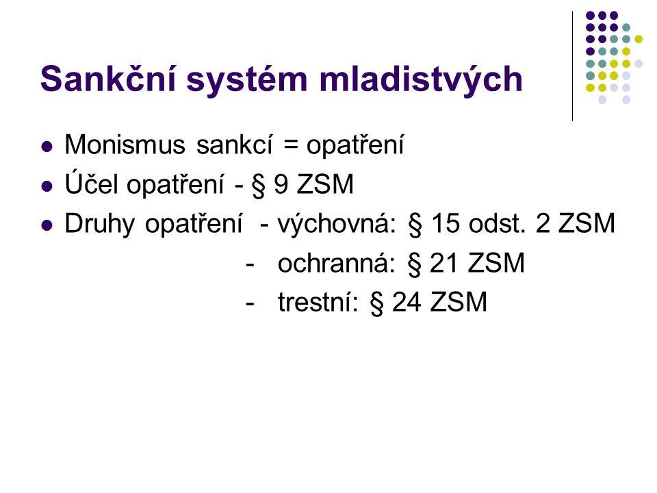 Sankční systém mladistvých