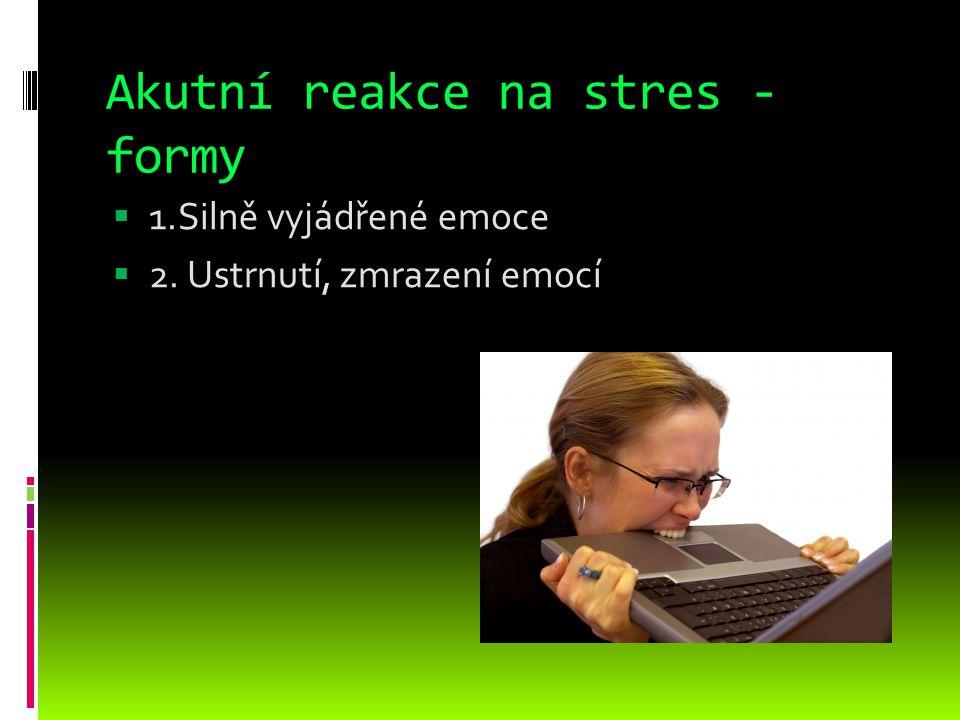 Akutní reakce na stres - formy
