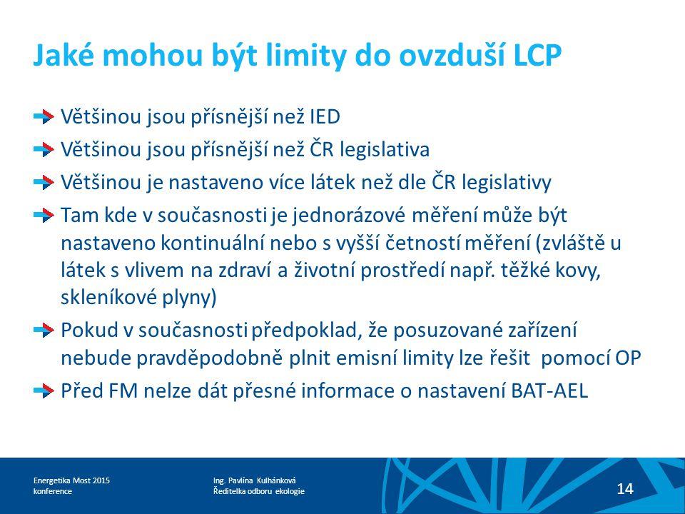 Jaké mohou být limity do ovzduší LCP