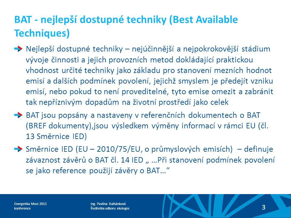 BAT - nejlepší dostupné techniky (Best Available Techniques)