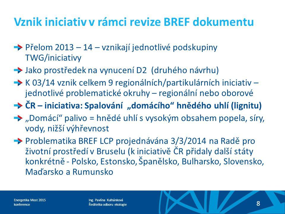 Vznik iniciativ v rámci revize BREF dokumentu