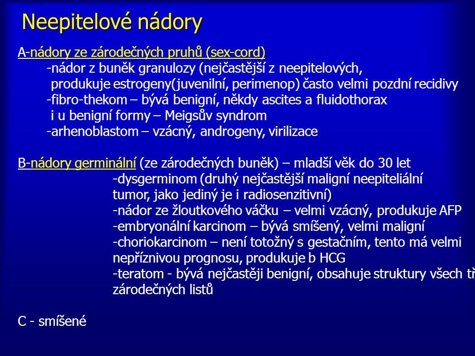 Neepitelové nádory A-nádory ze zárodečných pruhů (sex-cord)