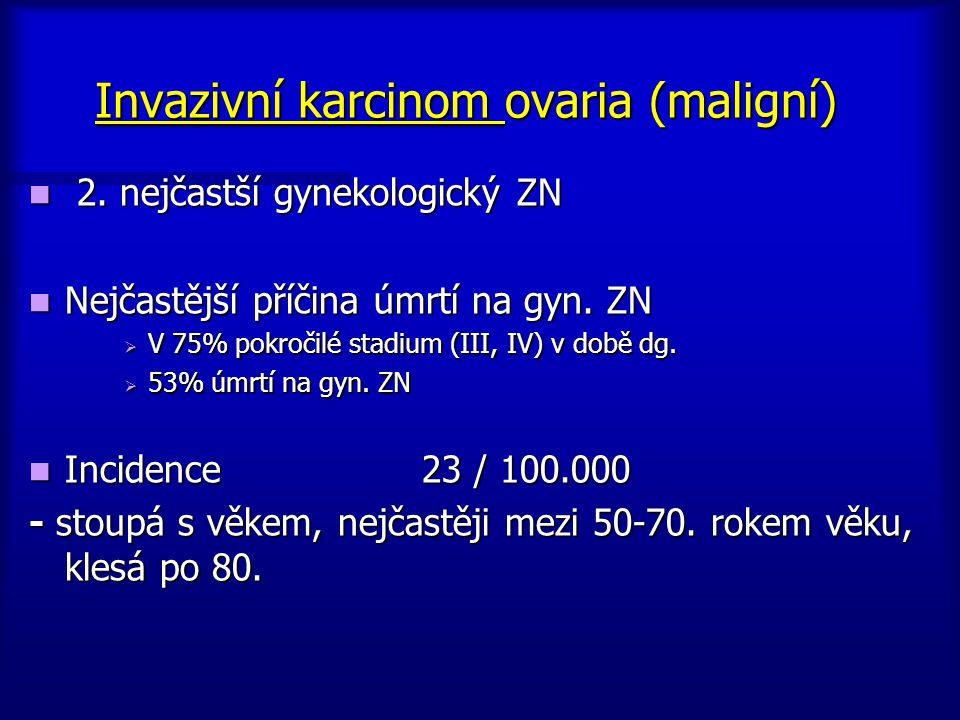 Invazivní karcinom ovaria (maligní)