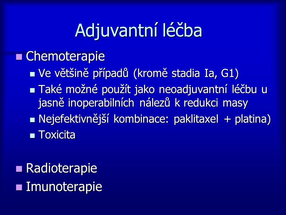 Adjuvantní léčba Chemoterapie Radioterapie Imunoterapie