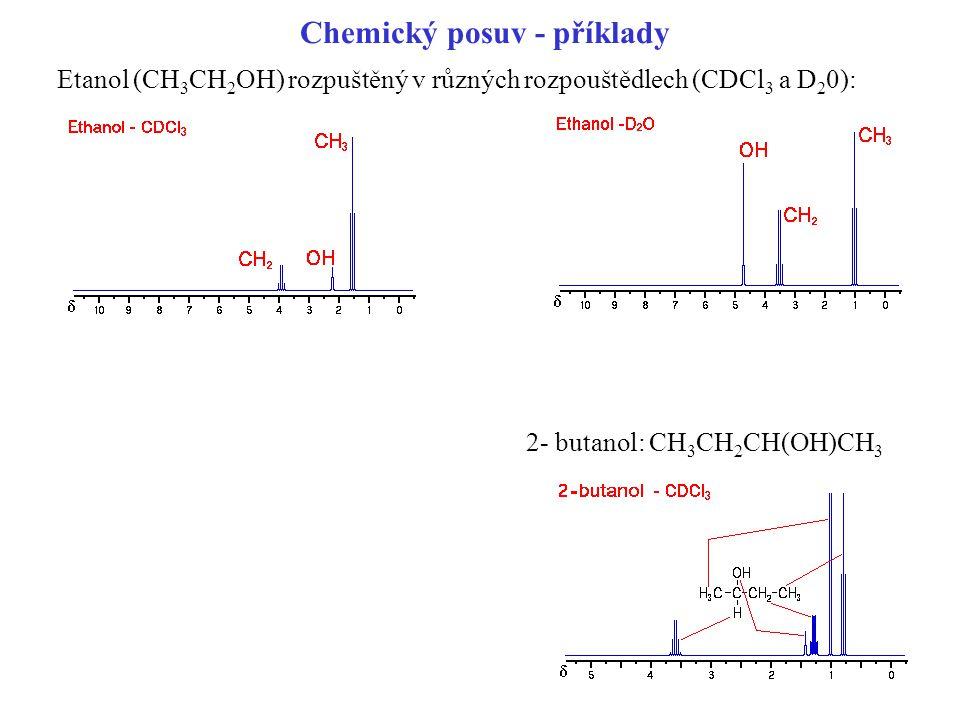 Chemický posuv - příklady