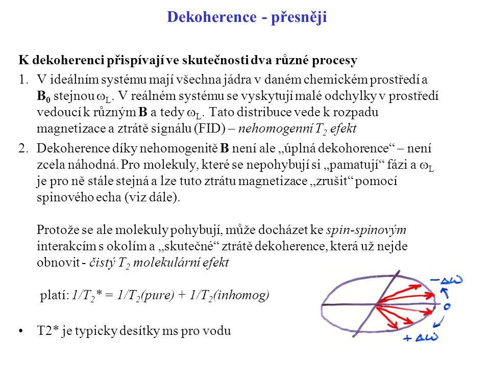 Dekoherence - přesněji