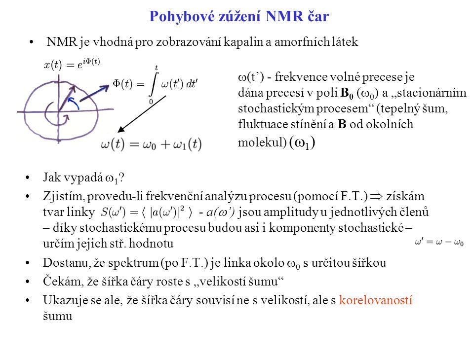 Pohybové zúžení NMR čar