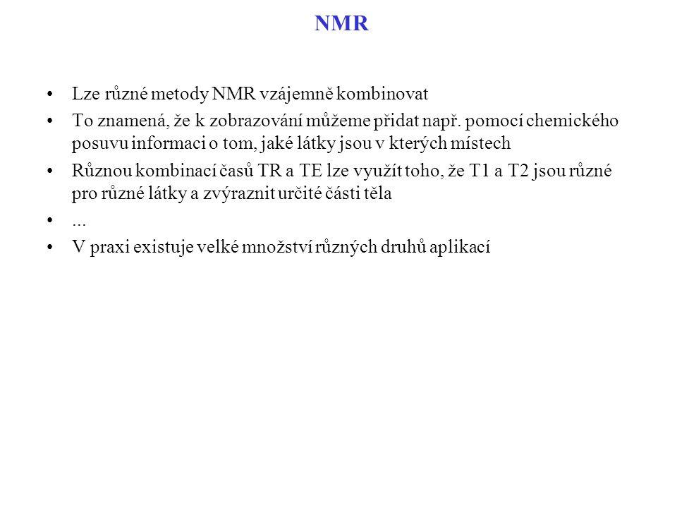 NMR Lze různé metody NMR vzájemně kombinovat
