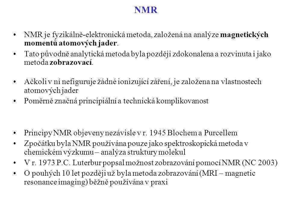 NMR NMR je fyzikálně-elektronická metoda, založená na analýze magnetických momentů atomových jader.