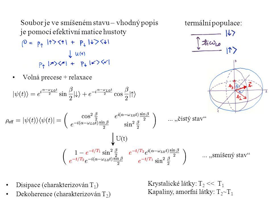 Soubor je ve smíšeném stavu – vhodný popis je pomocí efektivní matice hustoty