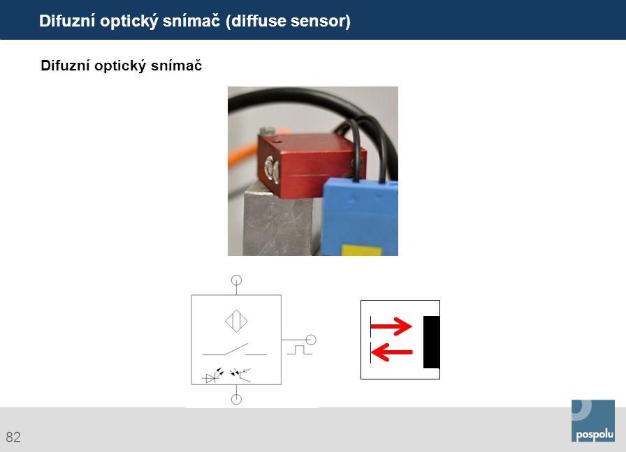 Difuzní optický snímač (diffuse sensor)