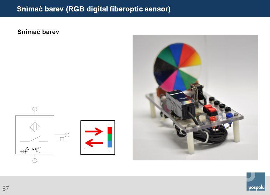 Snímač barev (RGB digital fiberoptic sensor)
