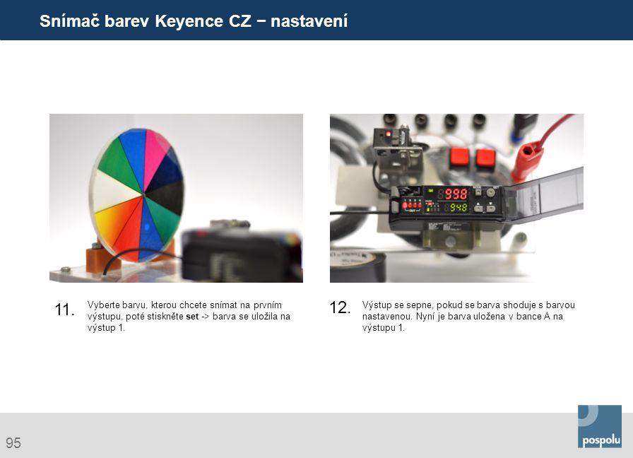 Snímač barev Keyence CZ − nastavení