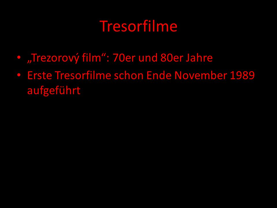 "Tresorfilme ""Trezorový film : 70er und 80er Jahre"