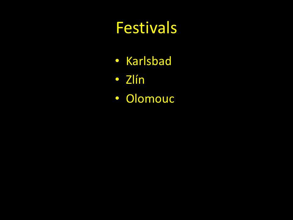 Festivals Karlsbad Zlín Olomouc
