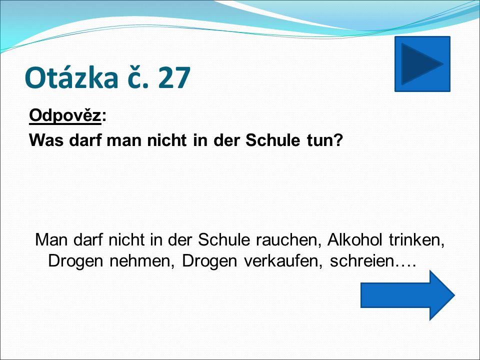 Otázka č. 27