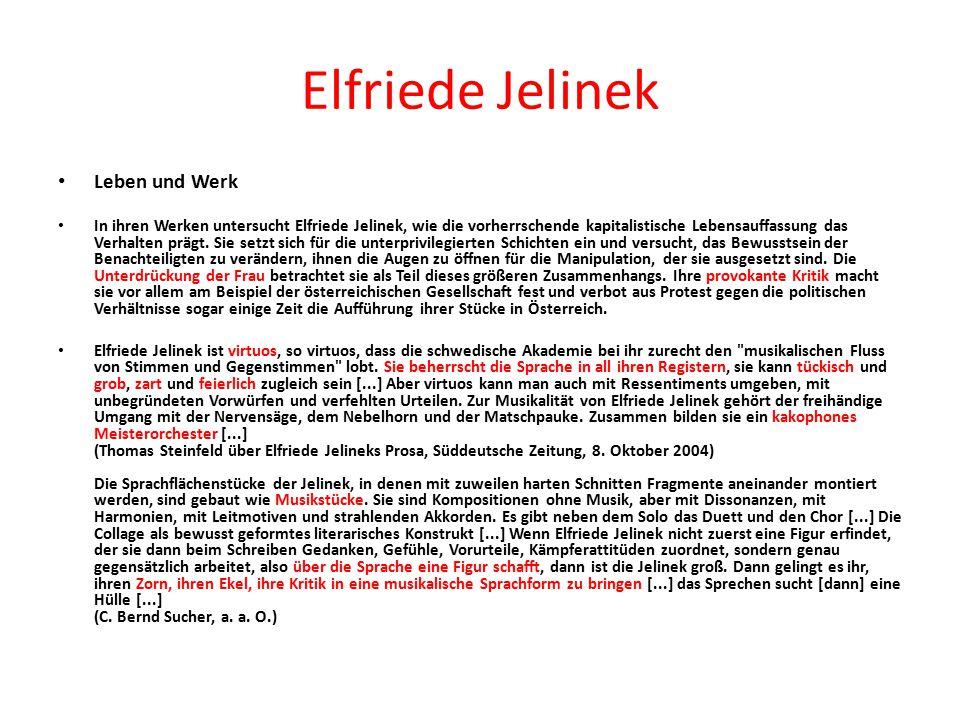 Elfriede Jelinek Leben und Werk