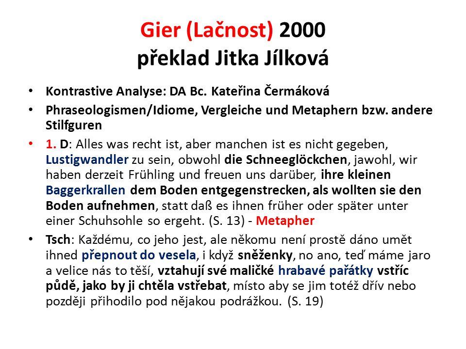 Gier (Lačnost) 2000 překlad Jitka Jílková