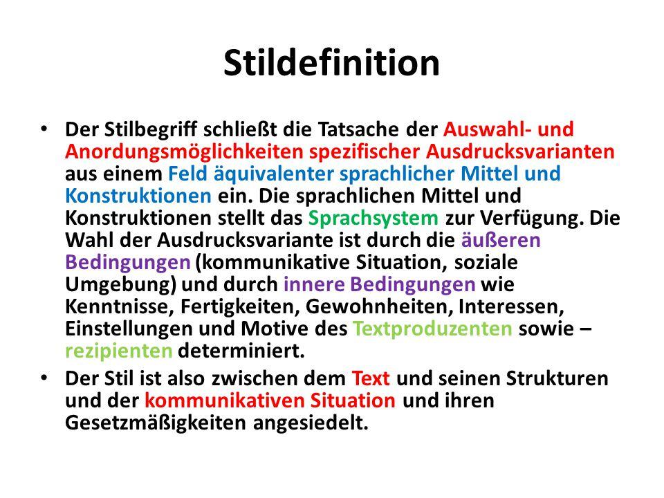 Stildefinition
