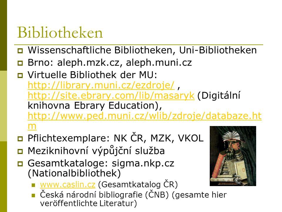 Bibliotheken Wissenschaftliche Bibliotheken, Uni-Bibliotheken