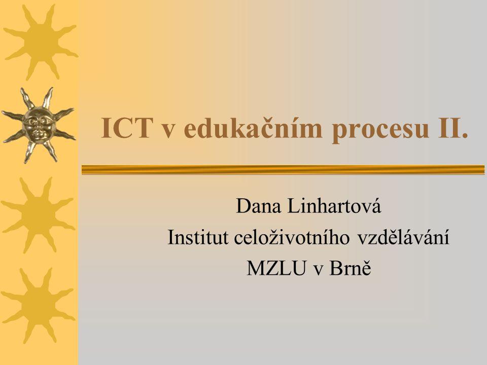 ICT v edukačním procesu II.