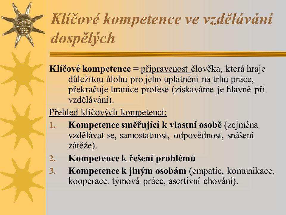 Klíčové kompetence ve vzdělávání dospělých
